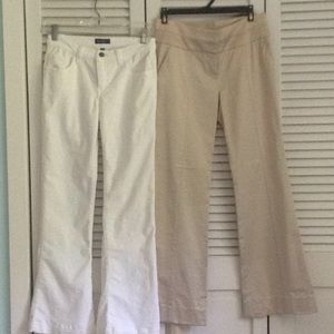 2  pair of Bebe pants  size  2 an 0  $35